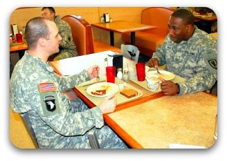 talking things over Ft Bragg