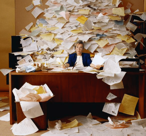 Tons of Paperwork