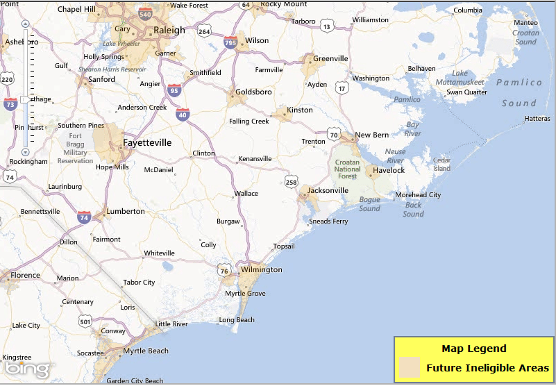 USDA Home Loan Eligibility Map Changes In NC Jan NC FHA Expert - Nc map